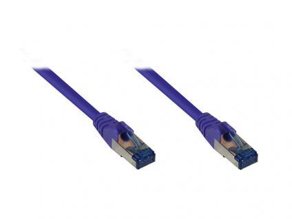 RNS® Patchkabel mit Rastnasenschutz, Cat. 6A, S/FTP, PiMF, halogenfrei, 500MHz, violett, 50m, Good Connections®