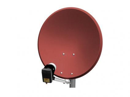 Alu-Satellitenspiegel, 60cm, rot - Vorschau