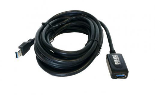 Verlängerungskabel, USB 3.0, aktiv, 5m, Exsys® [EX-1405]