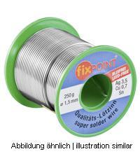 Lötzinn 250g Rolle, Ø 1mm, Material: 95, 5% Zinn, 3, 8% Silber, 0, 7% Kupfer
