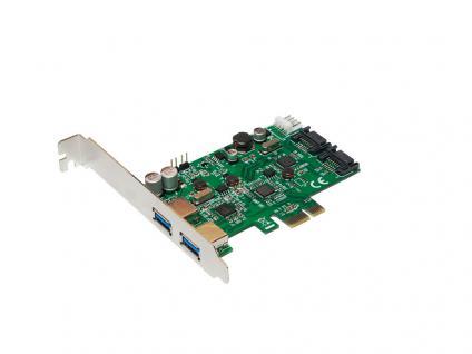 PCI Express Karte, 2x USB 3.0 + 2x SATA III, LogiLink® [PC0059A]