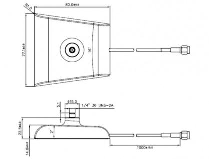 Antennen Standfuß 1x SMA Buchse weiß low loss, Delock® [88974]