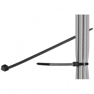 kabelmeister® Kabelbinder 200mm schwarz 100er Pack