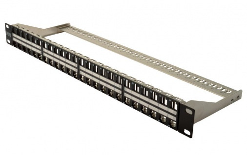 Modular Patch Panel, Cat. 6A, 48-Port, geschirmt, für Keystone Module, schwarz, Digitus® [DN-91424]