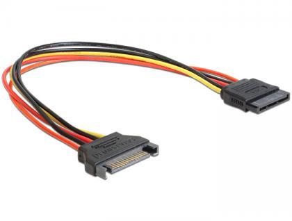 SATA Stromkabel, Power SATA 15 Pin Stecker an Buchse, 0, 3m, Delock® [60131]