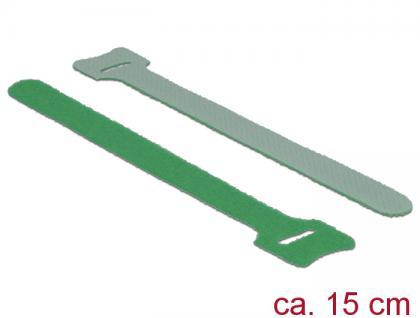 Klett-Kabelbinder L 150mm x B 12mm, 10 Stück, grün, Delock® [18692]