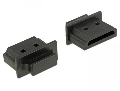 Staubschutz für HDMI-A Buchse, mit Griff, 10 Stück, schwarz, Delock® [64029]