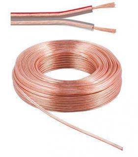 kabelmeister® Lautsprecherkabel 50m Ring, 2 x 2, 5mm², 100% Cu, transparent