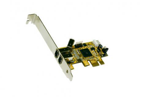 PCI Express Karte FireWire mit 2+1 Port, TI Chip-Set, Exsys® [EX-16450]