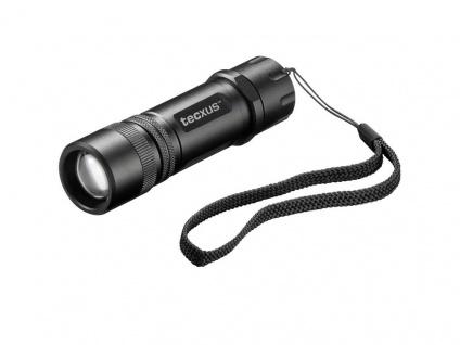 LED Taschenlampe mit einstellbarem Fokus, 3 W, 140 Lumen, rebellight X130, Tecxus®
