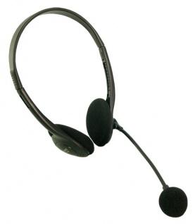 LogiLink® Stereo Headset Kopfhörer mit Mikrofon Deluxe [HS0001]