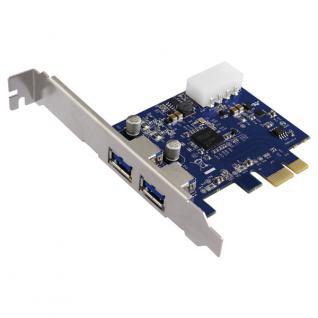 LogiLink® PCI Express Schnittstellenkarte USB 3.0 2x [PC0054A]