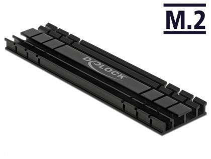 Kühlkörper flach 100 mm für M.2 Modul schwarz, Delock® [18286]