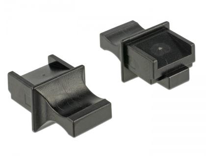 Staubschutz für RJ45 Buchse, mit Griff, 10 Stück, schwarz, Delock® [64020]