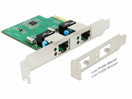 PCI Express Karte an 2x Gigabit LAN, Delock® [89999]