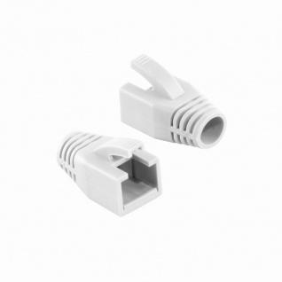 Knickschutztülle 8, 0 mm für Cat.6 RJ45 Steckverbinder, weiß, LogiLink® [MP0035W]