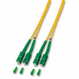 kabelmeister® Patchkabel LWL Duplex OS2 (Singlemode, 9/125) 4xSC/APC, gelb, 15m