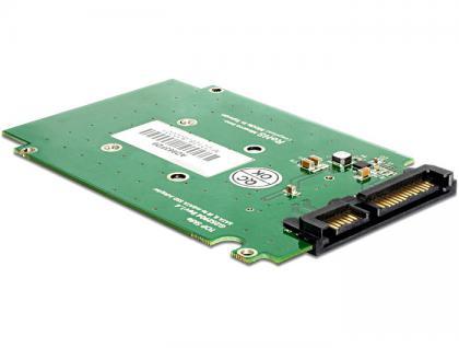 Konverter, SATA 22pin an mSATA 2.5 Rahmen, Delock® [62432]