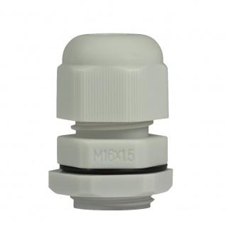 Kabelverschraubung M16, 10 Stück, IP68, lichtgrau, LogiLink® [CG0M16G]