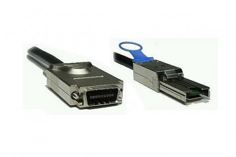 kabelmeister® SAS Kabel SFF-8470 auf SFF-8088, ext. SAS auf ext. mini SAS, AWG 28, Amphenol, 2m