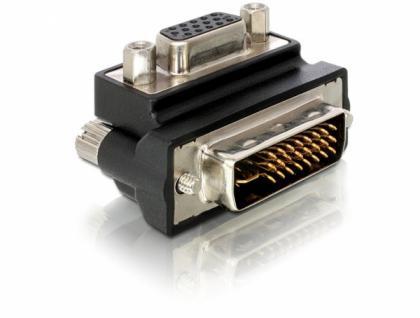 kabelmeister® Adapter VGA-Buchse an DVI-Stecker, nach oben gewinkelt