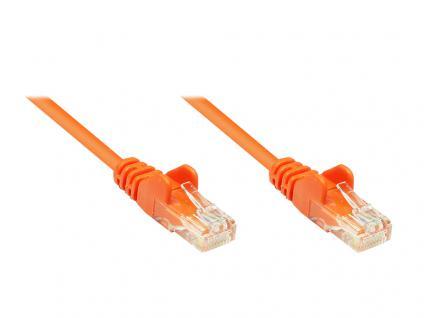 kabelmeister® Patchkabel, Cat. 5e, U/UTP, orange, 0, 25m