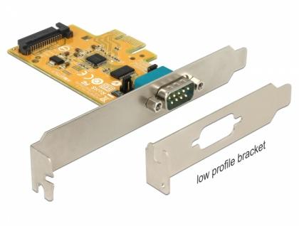 PCI Express Karte an 1x Seriell mit Spannungsversorgung ESD Schutz, Delock® [90293]