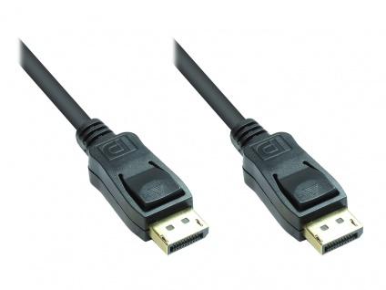 Kabelmeister® Anschlusskabel DisplayPort 20pin Stecker beidseitig, vergoldet, Version 1.2, schwarz, 1m