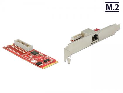 M.2 Adapter M.2 an 1 x RJ45 Gigabit LAN Ports (USB 3.0), Delock® [62683]