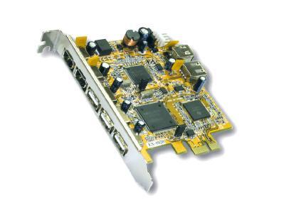 USB 2.0/FireWire 1394A PCI-Express Combo Karte 5+2 Ports, Exsys® [EX-16605]