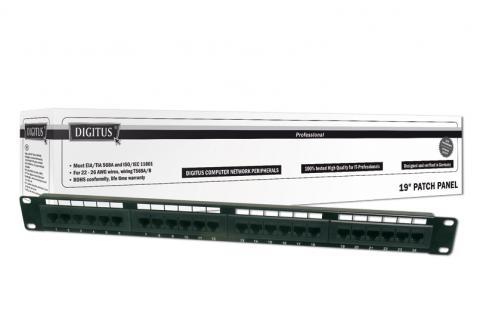 Digitus® 19' CAT 5e Patch Panel, 24 Port, ungeschirmt