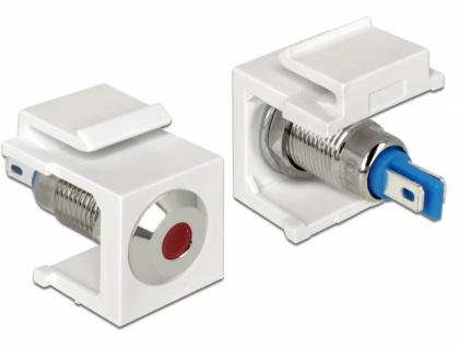 Keystone LED rot 6 V flach, weiß, Delock® [86433]