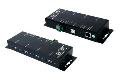 Print Server, Ethernet 1Giga zu 4 x USB 2.0 Ports Metallgehäuse, Exsys® [EX-6002]