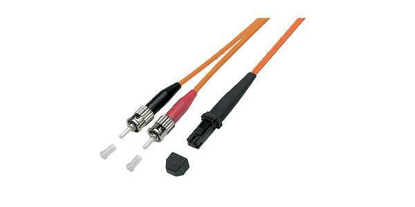 kabelmeister® Patchkabel LWL Duplex OM2 (Multimode, 50/125) MT-RJ / ST, 10m