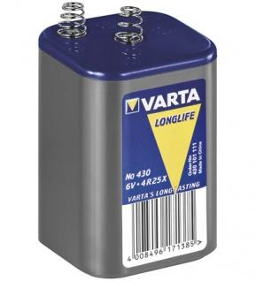 Varta® Battery 6Volt Blockbatterie (430) LongLife - Zinkchlorid; 1er Blister