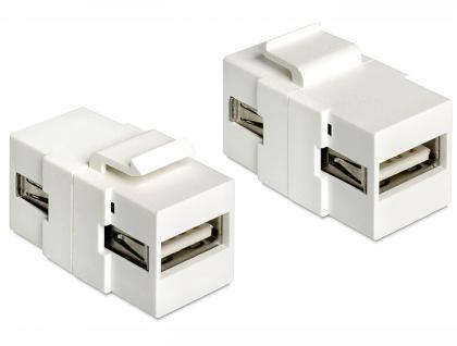 Keystone Jack, USB 2.0 A Buchse an USB 2.0 A Buchse, Delock® [86317]