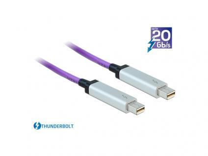 Anschlusskabel ThunderboltÖ optisch, Stecker an Stecker, violett, 10m, Delock® [83606]