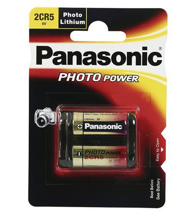 Panasonic® Batterie Lithium Photo für z.B. Kamera´s, 2 CR 5; 1er Blister