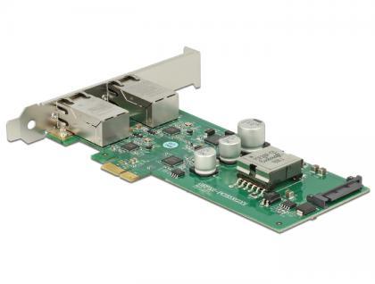 PCI Express Karte an 2x 1 Gigabit LAN PoE+ RJ45, Delock® [89560]