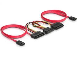 SATA All-in-One Kabel, für 2x HDD, Delock® [84356]