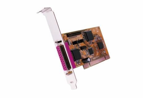 Schnittstellenkarte, PCI 1P Parallel-Karte, EPP, Legacy 3BC, 378, 278, Exsys® [EX-41021]