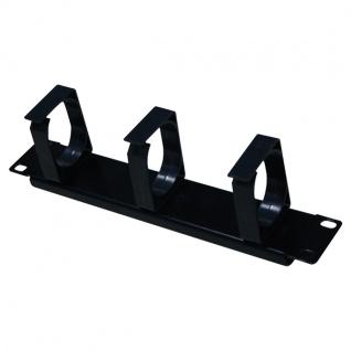 10' Kabelführungspanel, 1HE, schwarz, LogiLink® [ACT106]
