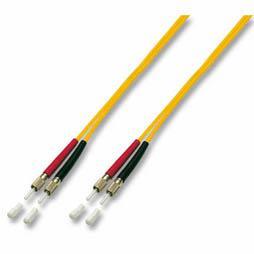 kabelmeister® Patchkabel LWL Duplex OS2 (Singlemode, 9/125) DIN/DIN, gelb, 3m