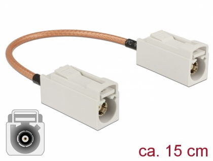 Antennenkabel FAKRA B Buchse an FAKRA B Buchse RG-316, 0, 15m, Delock® [89674]