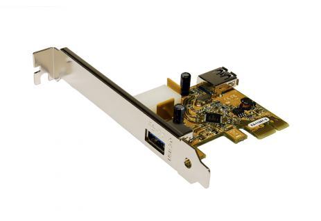 Schnittstellenkarte PCI Express Karte, USB 3.0, 1x externer 1x interner Port, Exsys® [EX-11081-2]