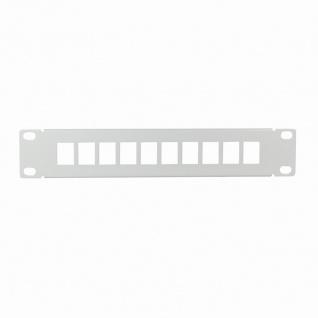 10' Keystone Panel für 10 Stecker, hellgrau, LogiLink® [ACT107]