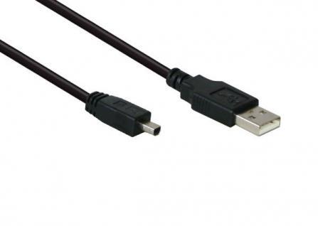 Anschlusskabel USB 2.0 Stecker A an Stecker Mini B 4-pin, schwarz, 1, 8m, Good Connections®