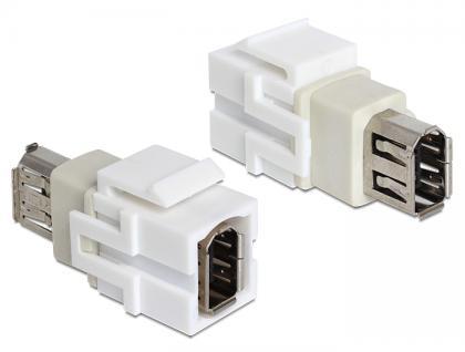 Keystone Modul FireWire 6 Pin Buchse an FireWire 6 Pin Buchse, Delock® [86324]