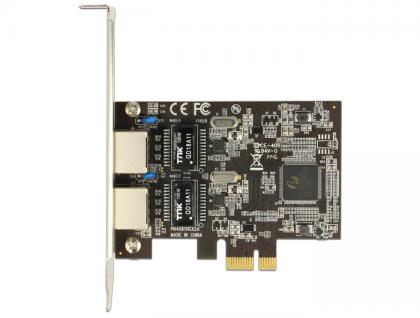PCI Express Karte an 2 x Gigabit LAN, Delock® [89346]
