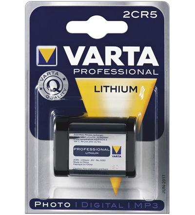 Varta® Professinal Litihium für Foto, Digital-, MP3 Geräte; 6V, 1600 mAh, 1er Blister